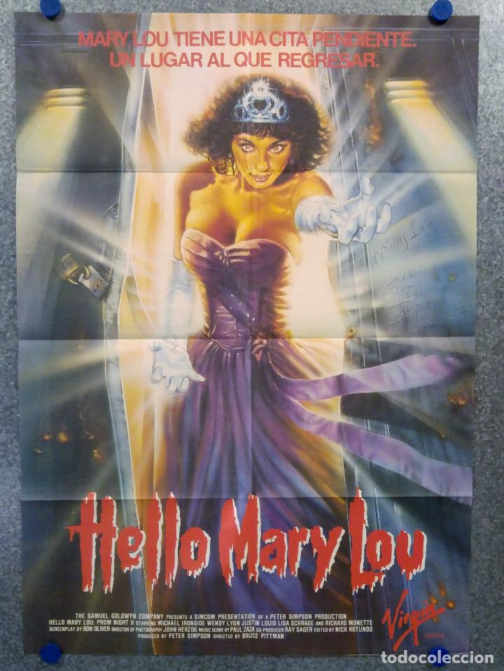 HELLO MARY LOU. MICHAEL IRONSIDE, WENDY LYON, JUSTIN LOUIS POSTER ORIGINAL (Cine - Posters y Carteles - Terror)