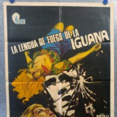 Cine: LA LENGUA DE FUEGO DE LA IGUANA. LUIGI PISTILLI, DAGMAR LASSANDER AÑO 1973 POSTER ORIGINAL. Lote 165061254
