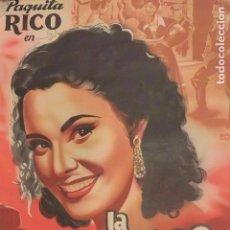 Cine: CARTEL POSTER CINE LA MOZA DEL CANTARO. PAQUITA RICO. FLORIAN REY. Lote 165176782
