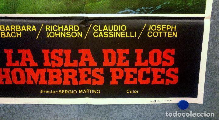 Cine: La isla de los hombres peces. Barbara Bach, Claudio Cassinelli, Richard J. AÑO 1978 POSTER ORIGINAL - Foto 4 - 165210134