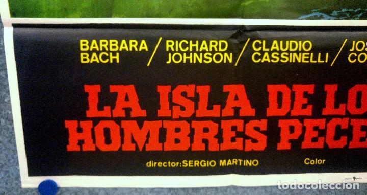 Cine: La isla de los hombres peces. Barbara Bach, Claudio Cassinelli, Richard J. AÑO 1978 POSTER ORIGINAL - Foto 5 - 165210134