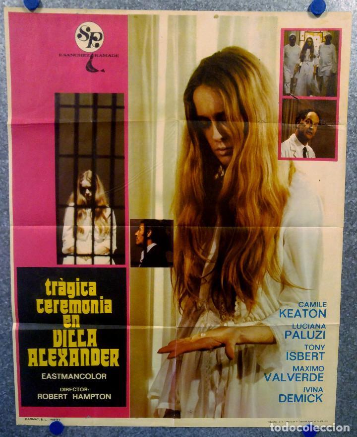 TRÁGICA CEREMONIA EN VILLA ALEXANDER.CAMILE KEATON, JOSÉ CALVO AÑO 1973. POSTER ORIGINAL (Cine - Posters y Carteles - Terror)