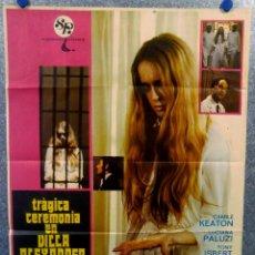 Cine: TRÁGICA CEREMONIA EN VILLA ALEXANDER.CAMILE KEATON, JOSÉ CALVO AÑO 1973. POSTER ORIGINAL . Lote 165224026