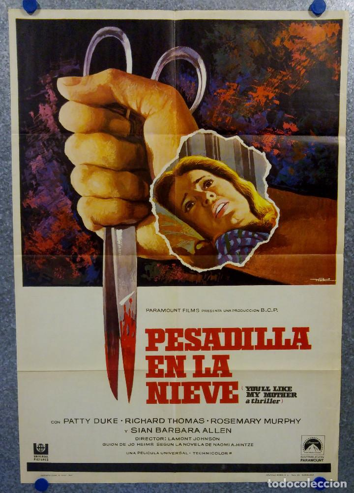 PESADILLA EN LA NIEVE. PATTY DUKE, RICHARD THOMAS, ROSEMARY MURPHY. AÑO 1973 POSTER ORIGINAL (Cine - Posters y Carteles - Terror)