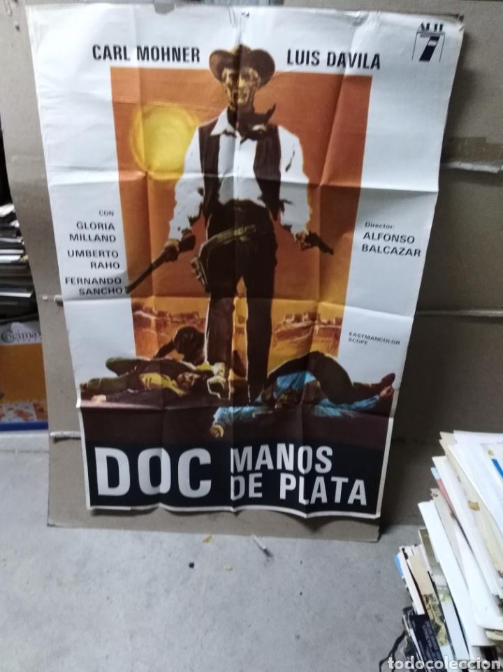 DOC MANOS DE PLATA SPAGHETTI POSTER ORIGINAL 70X100 YY (2055) (Cine - Posters y Carteles - Westerns)