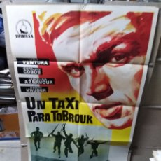 Cine: UN TAXI PARA TOBROUK LINO VENTURA AZNAVOUR POSTER ORIGINAL 70X100 YY (2061). Lote 165482378