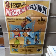 Cine: 2 FESTIVAL MORTADELO Y FILEMON POSTER ORIGINAL 70X100 YY (2070). Lote 165485457