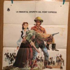 Cine: CARTEL O POSTER EL TRIUNFO DE BUFFALO BILL.CHARLTON HESTON RHONDA FLEMING. Lote 165490937