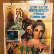 Cine: CARTEL O POSTER EL ÁRBOL DE LA VIDA.ELIZABETH TAYLOR MONTGOMERY CLIFT EVA MARIE SAINT. Lote 165502014