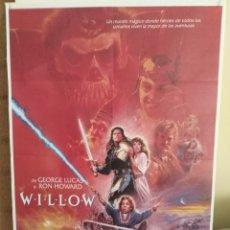 Cine: WILLOW GEORGE LUCAS RON HOWARD VAL KILMER POSTER ORIGINAL 70X100. Lote 165549984