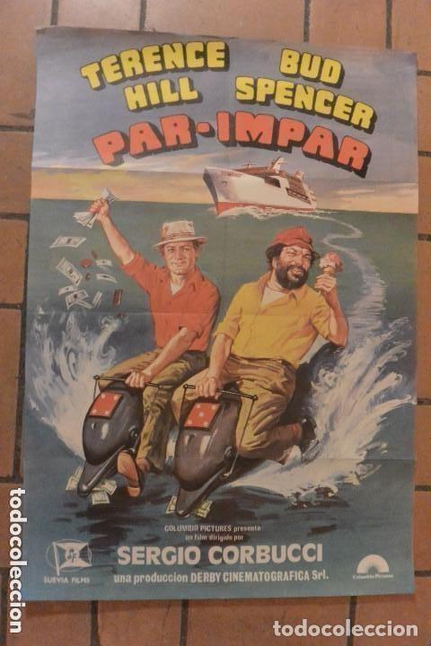 CARTEL POSTER CINE PAR-IMPAR TERENCE HILL Y BUD SPENCER (Cine - Posters y Carteles - Comedia)