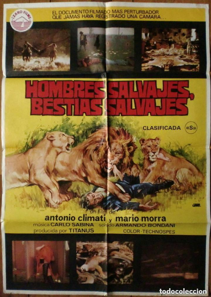 CARTEL: HOMBRES SALVAJES, BESTIAS SALVAJES (CLIMATI, MORRA) MONDO MOVIE (Cine - Posters y Carteles - Terror)