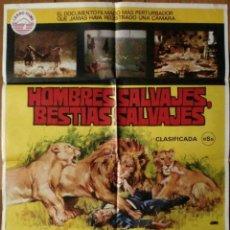 Cine: CARTEL: HOMBRES SALVAJES, BESTIAS SALVAJES (CLIMATI, MORRA) MONDO MOVIE. Lote 165617658