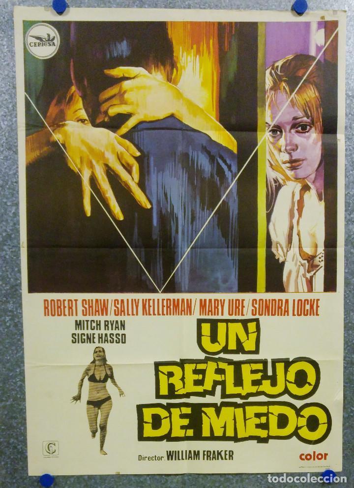 UN REFLEJO DEL MIEDO. SONDRA LOCKE, SIGNE HASSO, MARY URE. AÑO 1974. POSTER ORIGINAL (Cine - Posters y Carteles - Terror)