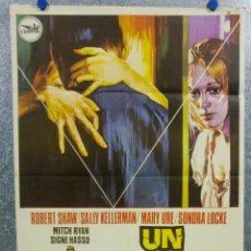 Cine: UN REFLEJO DEL MIEDO. SONDRA LOCKE, SIGNE HASSO, MARY URE. AÑO 1974. POSTER ORIGINAL. Lote 165654410