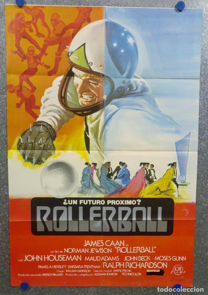 ROLLERBALL. JAMES CAAN. AÑO 1980. POSTER ORIGINAL (Cine - Posters y Carteles - Ciencia Ficción)