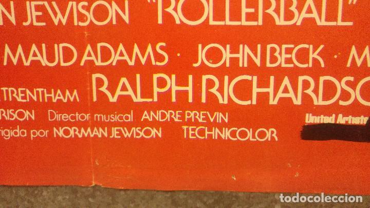Cine: Rollerball. JAMES CAAN. AÑO 1980. POSTER ORIGINAL - Foto 6 - 165657146