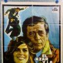 Cine: EL AZAR Y LA VIOLENCIA. YVES MONTAND, KATHARINE ROSS AÑO 1974. POSTER ORIGINAL. Lote 165659294