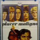 Cine: PLACER MALIGNO. JACQUES WEBER, ANNY DUPEREY, NICOLETTA MACHIAVELLY. AÑO 1975 POSTER ORIGINAL. Lote 165661822