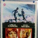 Cine: AL FINAL DE LA NOCHE. LESLIE CARON, DAVID NIVEN. AÑO 1963 POSTER ORIGINAL. Lote 165668142
