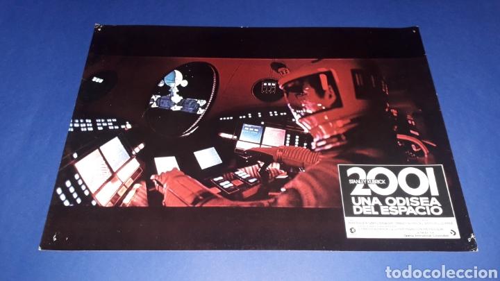 CARTEL DE CINE 33,5 X 23,5 CMS. 2001 UNA ODISEA DEL ESPACIO, STANLEY KUBRICK. ORIGINAL 1968. (Cine - Posters y Carteles - Ciencia Ficción)