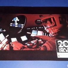 Cine: CARTEL DE CINE 33,5 X 23,5 CMS. 2001 UNA ODISEA DEL ESPACIO, STANLEY KUBRICK. ORIGINAL 1968.. Lote 165692549