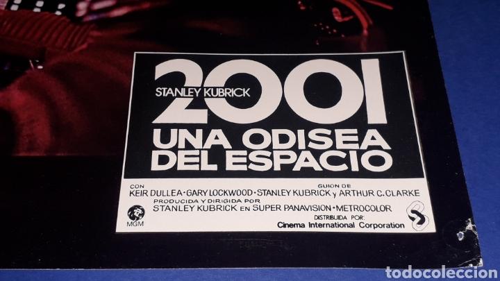 Cine: Cartel de Cine 33,5 x 23,5 cms. 2001 una Odisea del Espacio, Stanley Kubrick. Original 1968. - Foto 2 - 165692549