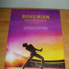 Cine: POSTER BOHEMIAN RHAPSODY - QUEEN. Lote 165903454