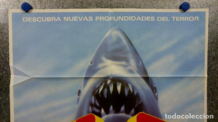 Cine: JAWS 3, EL GRAN TIBURON - DENNIS QUAID, BESS ARMSTRONG, SIMON Mac CORKINDALE. POSTER ORIGINAL - Foto 2 - 165988190
