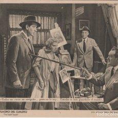 Cine: CARTEL PUBLICITARIO EL MILAGRO DEL CUADRO - STEWART GRANGER, PIER ANGELI - (24X19). Lote 165990546