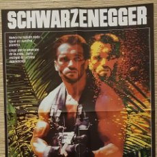 Cine: POSTER A DOS CARAS - DEPREDATOR SCHWARZENEGGER-OTRODE MARVEL. Lote 166054330