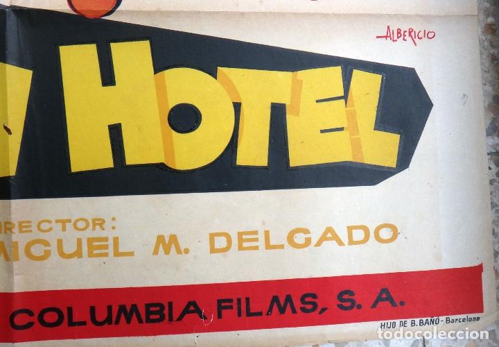 Cine: CARTEL POSTER CINE , GRAN HOTEL , CANTINFLAS , LITOGRAFIA , ALBERICIO ,ORIGINAL - Foto 2 - 166157866