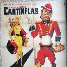 Cine: CARTEL POSTER CINE , GRAN HOTEL , CANTINFLAS , LITOGRAFIA , ALBERICIO ,ORIGINAL. Lote 166157866