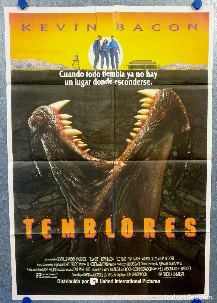 TEMBLORES. KEVIN BACON, FRED WARD. AÑO 1990. POSTER ORIGINAL (Cine - Posters y Carteles - Terror)