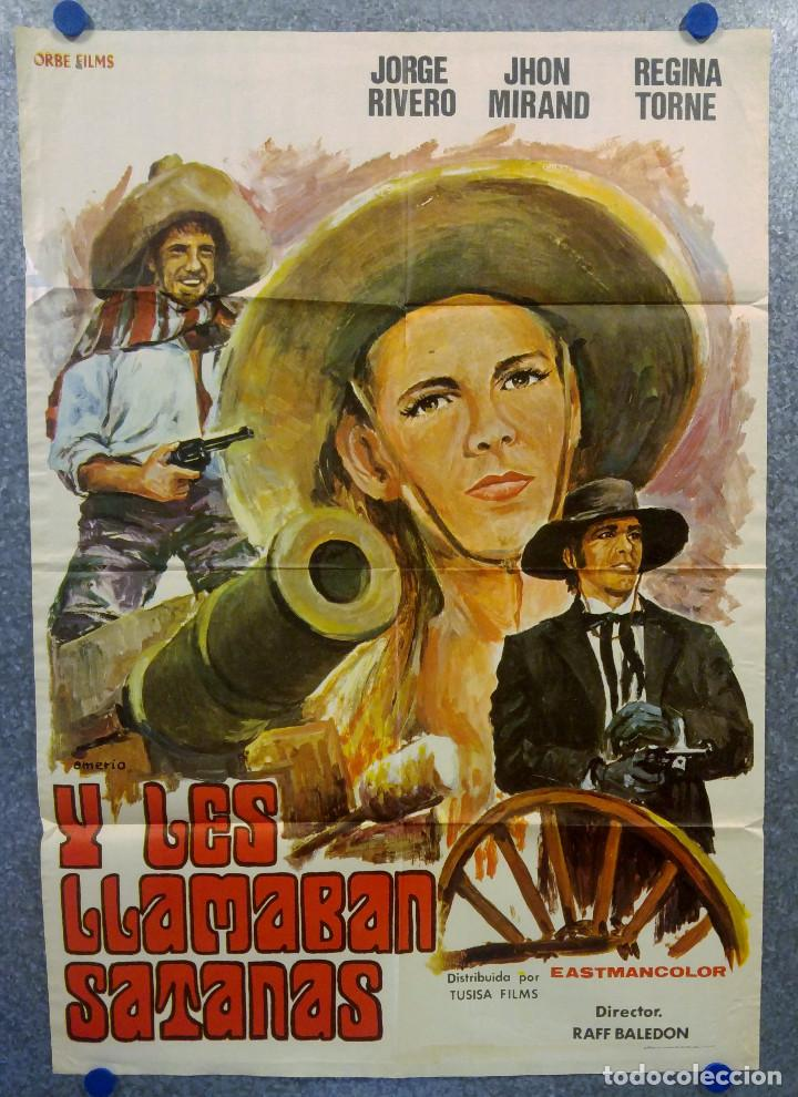 Y LES LLAMABAN SATANAS. JORGE RIVERO, REGINA TORNE. AÑO 1975. POSTER ORIGINAL (Cine - Posters y Carteles - Terror)