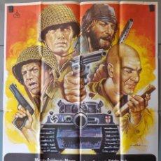 Cinéma: (N125) LOS VIOLENTOS DE KELLY, CLINT EASTWOOD,TELLY SAVALAS,DONALD SUTHERLAND, CARTEL DE CINE ORIGIN. Lote 166307402