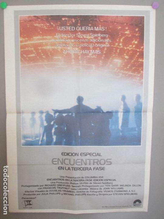 CARTEL CINE, EDICION ESPECIAL, ENCUENTROS EN LA TERCERA FASE, STEVEN SPIELBERG, 1980, C1588 (Cine - Posters y Carteles - Ciencia Ficción)