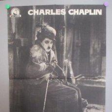 Cine: CARTEL CINE, LA QUIMERA DEL ORO, CHARLES CHAPLIN, 1960, C1600. Lote 166407090