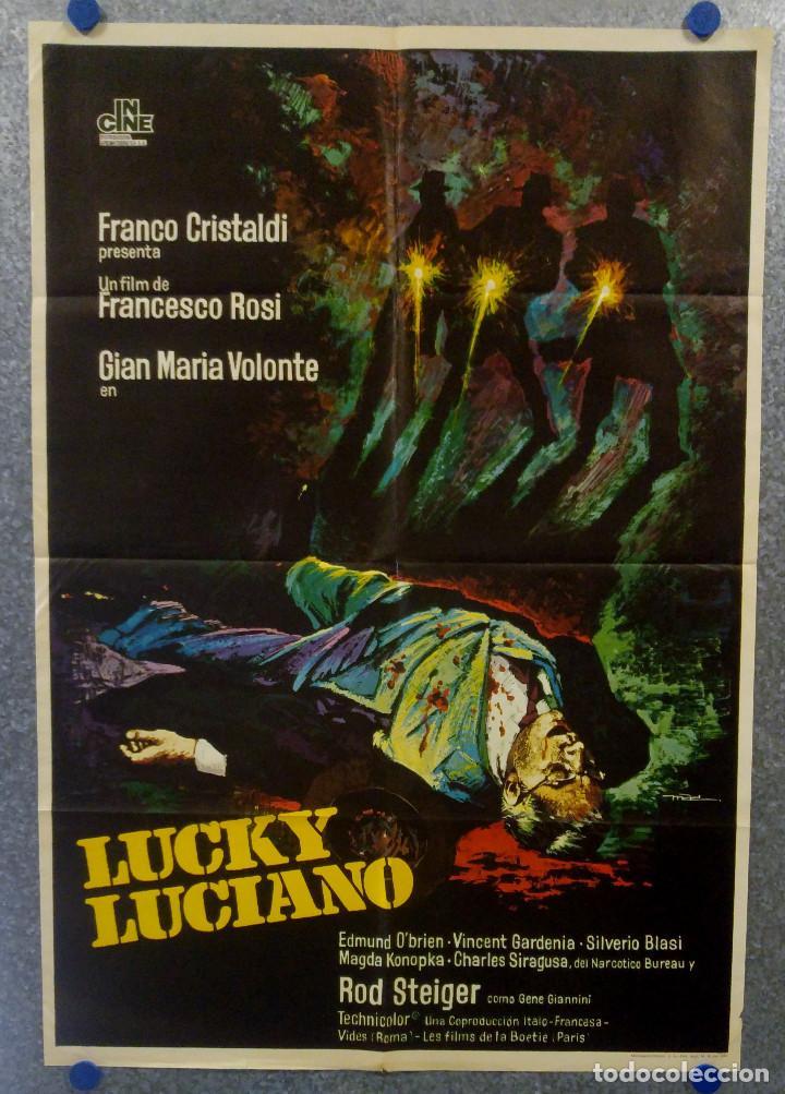 LUCKY LUCIANO. GIAN MARIA VOLONTÉ, EDMOND O'BRIEN, VINCENT GARDENIA AÑO 1974. POSTER ORIGINAL (Cine - Posters y Carteles - Terror)