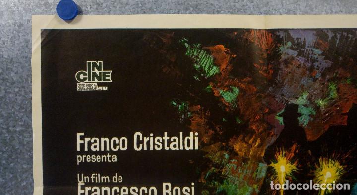Cine: Lucky Luciano. Gian Maria Volonté, Edmond OBrien, Vincent Gardenia AÑO 1974. POSTER ORIGINAL - Foto 2 - 166430850