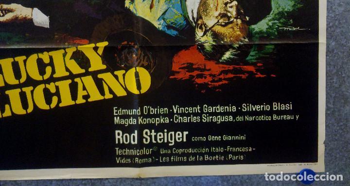 Cine: Lucky Luciano. Gian Maria Volonté, Edmond OBrien, Vincent Gardenia AÑO 1974. POSTER ORIGINAL - Foto 4 - 166430850