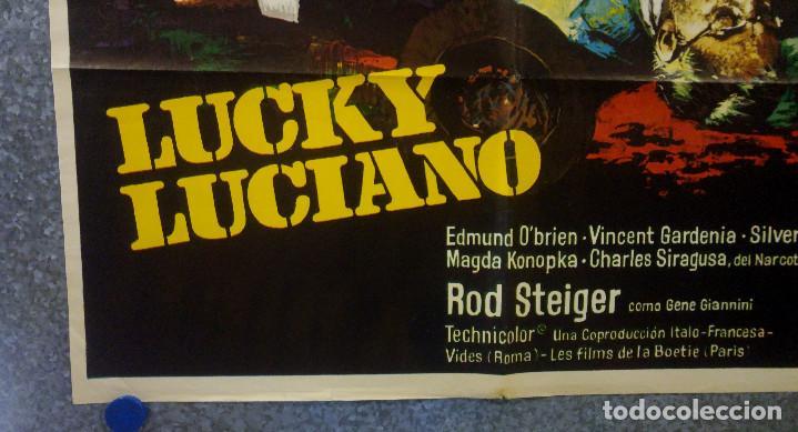 Cine: Lucky Luciano. Gian Maria Volonté, Edmond OBrien, Vincent Gardenia AÑO 1974. POSTER ORIGINAL - Foto 5 - 166430850