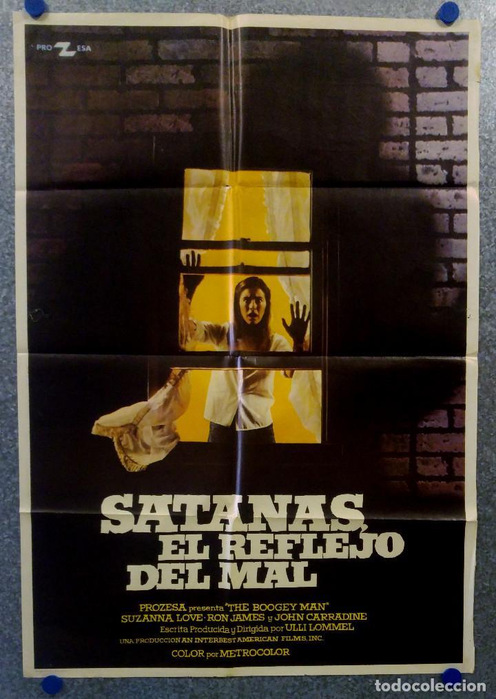 SATANÁS, EL REFLEJO DEL MAL. SUZANNA LOVE, RON JAMES, JOHN CARRADINE. AÑO 1981 POSTER ORIGINAL (Cine - Posters y Carteles - Terror)