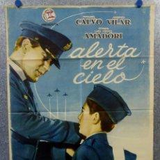 Cine: ALERTA EN EL CIELO. PABLITO CALVO, ANTONIO VILAR, AÑO 1961 POSTER ORIGINAL. Lote 166583442