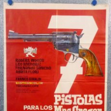 Cine: 7 SIETE PISTOLAS PARA LOS MACGREGOR. ROBERT WOODS, FERNANDO SANCHO, AGATA AÑO 1965 POSTER ORIGINAL. Lote 166583610