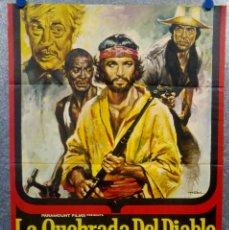 Cine: LA QUEBRADA DEL DIABLO. BEKIM FEHMIU, RICHARD CRENNA AÑO 1971. POSTER ORIGINAL. Lote 166583786