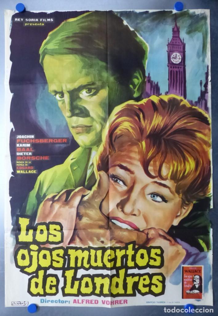 LOS OJOS MUERTOS DE LONDRES - JOACHIN FUCHSBERGER, KARIM BAAL (Cine - Posters y Carteles - Terror)