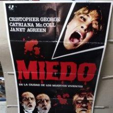 Cine: MIEDO EN LA CIUDAD DE LOS MUERTOS VIVIENTES LUCIO FULCI POSTER ORIGINAL 70X100 POSIBILIDAD DE BLURAY. Lote 166782409