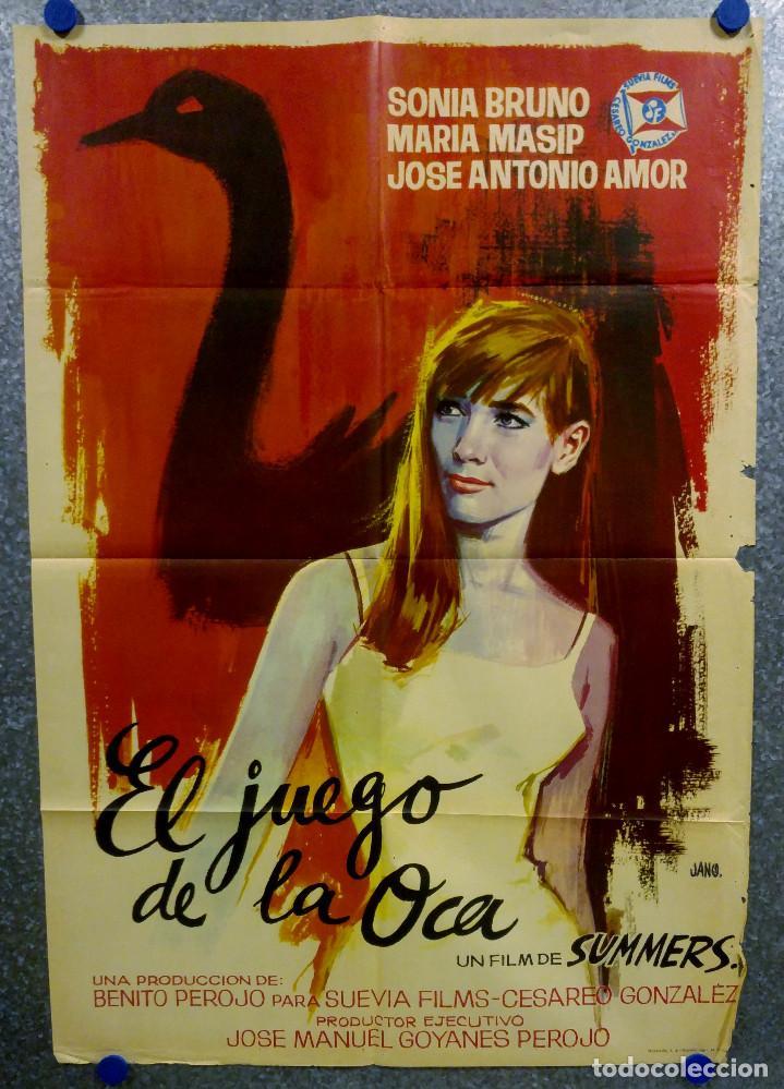 EL JUEGO DE LA OCA. SONIA BRUNO, MARÍA MASSIP, JOSÉ ANTONIO AMOR. AÑO 1966. POSTER ORIGINAL (Cine - Posters y Carteles - Clasico Español)
