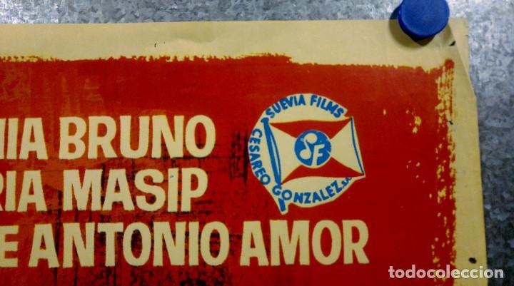 Cine: El juego de la oca. Sonia Bruno, María Massip, José Antonio Amor. AÑO 1966. POSTER ORIGINAL - Foto 4 - 166818654